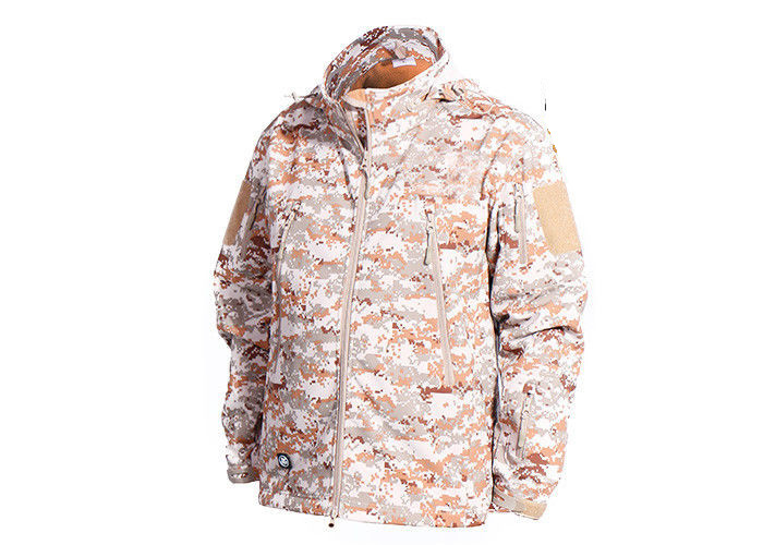 Warm Military Tactical Jackets Digital Desert Color , Winter Law Enforcement Outerwear