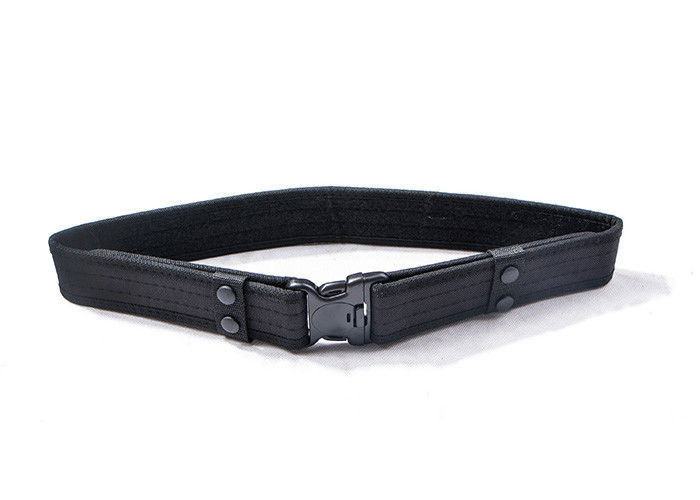 Custom Black Military Tactical Belt With 50% Polyester / 50% Nylon