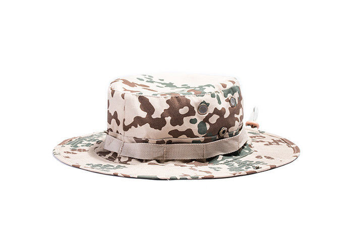 Cotton Desert Camo Bucket Hat / Air Force Boonie Hat For Outdoor Sun Protection