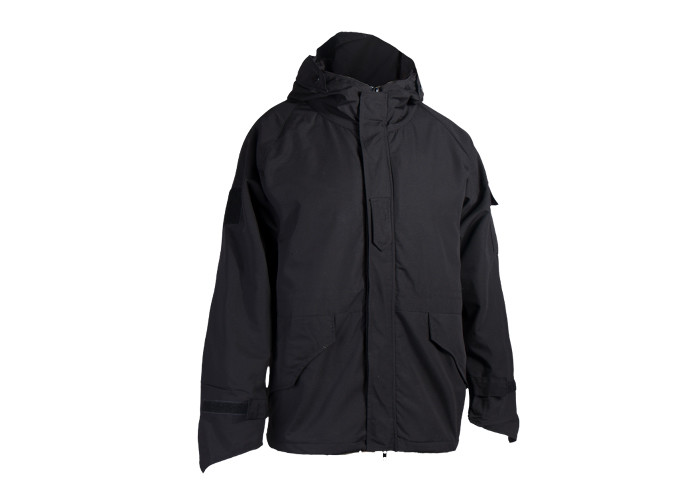 Black Color Tactical Winter Jacket 65% Ppolyester 35% Softshell Jacket And Waterproof Jacket